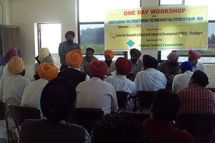"""Workshop on """"Panchayati Raj System"""" in Punjab"""