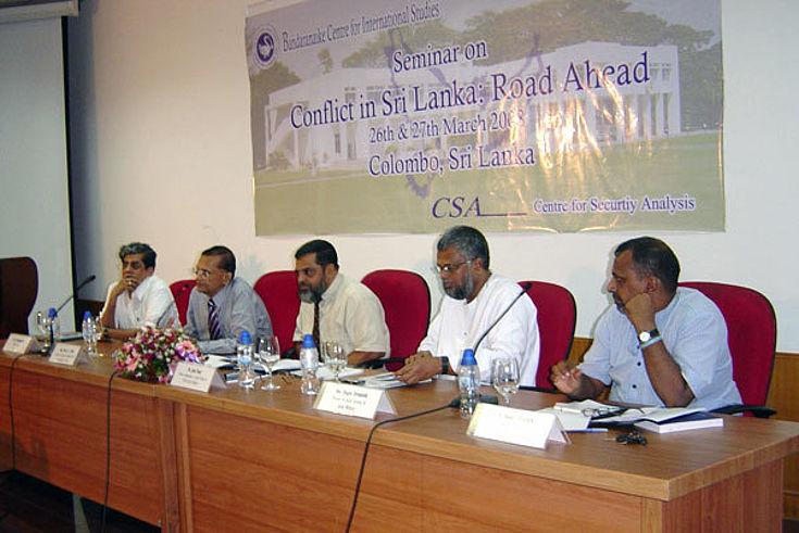 "Seminar on ""Conflict in Sri Lanka: Road Ahead"""