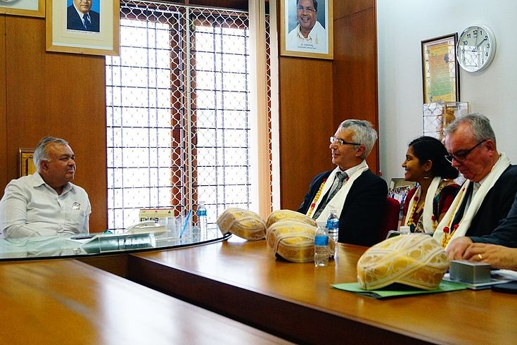 The Hon'ble Minister Ramalinga Reddy pointed out the mutual benefits of the cooperation with the State of Bavaria