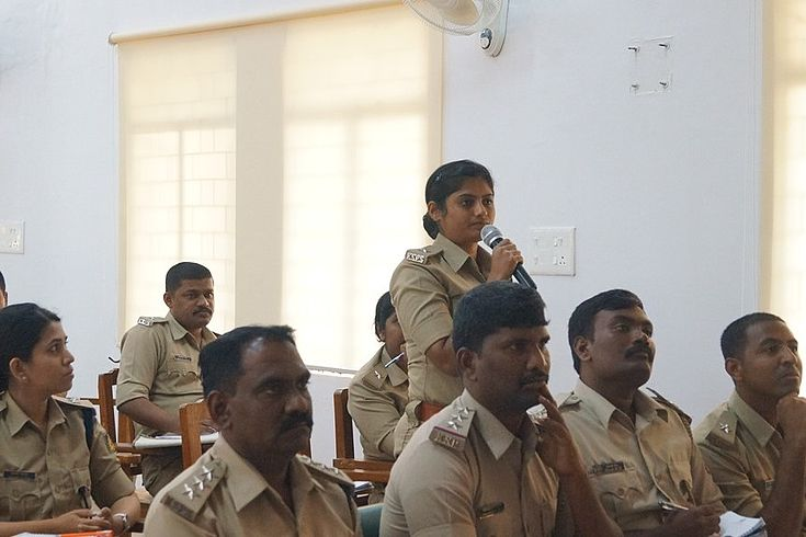 Cadets of the Karnataka State Police Cadre had a number of questions for the Bavarian delegation